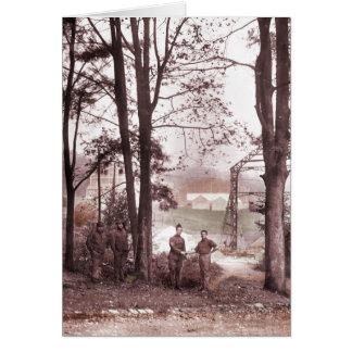 Fábrica Meudon Francia 1918 del globo Tarjeta De Felicitación