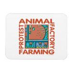 Fábrica que cultiva, los derechos de los animales iman rectangular