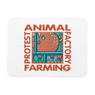Fábrica que cultiva, los derechos de los animales imán rectangular