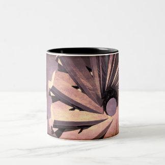 Fabricación abstracta taza de dos tonos