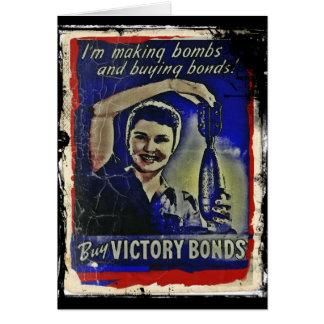 Fabricación de bombas y compra de enlaces tarjeta de felicitación