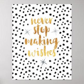 Fabricación de cita de los deseos póster