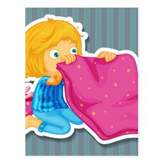 Fabricación de la cama tarjetas postales