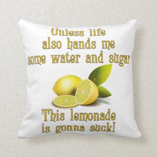 Fabricación de la limonada cojín