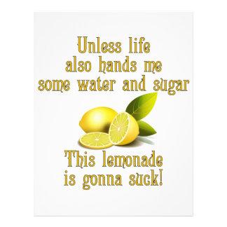 """Fabricación de la limonada folleto 8.5"""" x 11"""""""