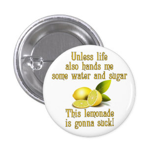 Fabricación de la limonada pin redondo de 1 pulgada