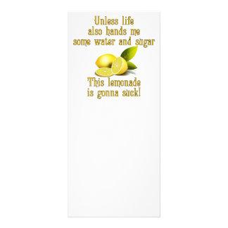Fabricación de la limonada tarjetas publicitarias