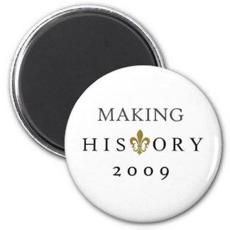 FABRICACIÓN DE LA NACIÓN DE LA HISTORIA 2009 WHODA IMÁN REDONDO 5 CM