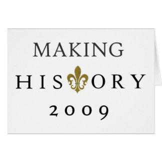 FABRICACIÓN DE LA NACIÓN DE LA HISTORIA 2009 WHODA TARJETA DE FELICITACIÓN