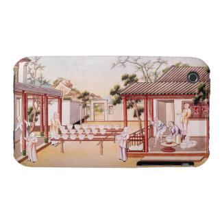 Fabricación de la porcelana (w/c en el papel) Case-Mate iPhone 3 funda