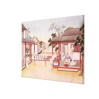 Fabricación de la porcelana (w/c en el papel) impresión en lona estirada