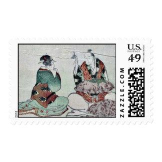 Fabricación de los paraguas por Katsushika, Envio