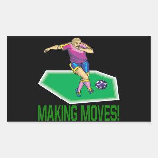 Fabricación de movimientos pegatina rectangular