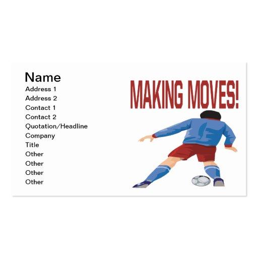 Fabricación de movimientos tarjetas de visita
