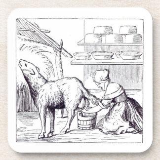 Fabricación de quesos en Suiza, después de un cort Posavasos De Bebidas
