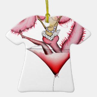 fabricación de un chapoteo, fernandes tony adorno de cerámica en forma de camiseta