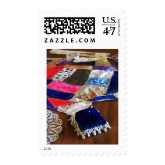Fabricación de un edredón timbre postal