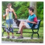 Fabricación de un nuevo amigo en el parque azulejos