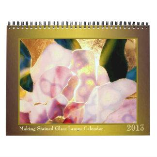 Fabricación del calendario 2013 de las lámparas