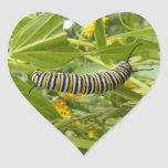 Fabricación del monarca pegatina de corazon personalizadas
