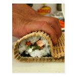Fabricación del sushi tarjetas postales