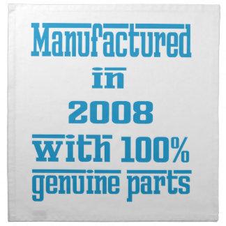 Fabricado en 2008 con las piezas auténticas del servilletas