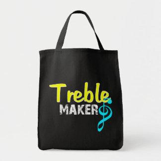 Fabricante agudo para los productos oscuros bolsas lienzo