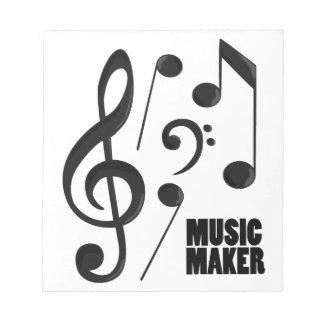 Fabricante de la música blocs de notas