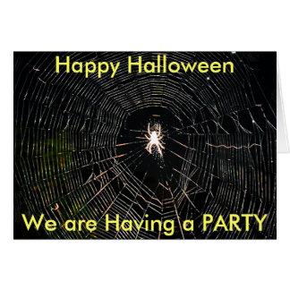 fabricante de la tela, feliz Halloween, estamos te Tarjeta Pequeña