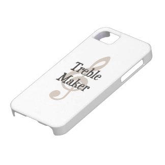 Fabricante de problema musical del Clef agudo del iPhone 5 Case-Mate Cobertura