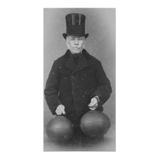 Fabricante de Richard Lindon de la bola de rugbi m Tarjeta Fotografica Personalizada