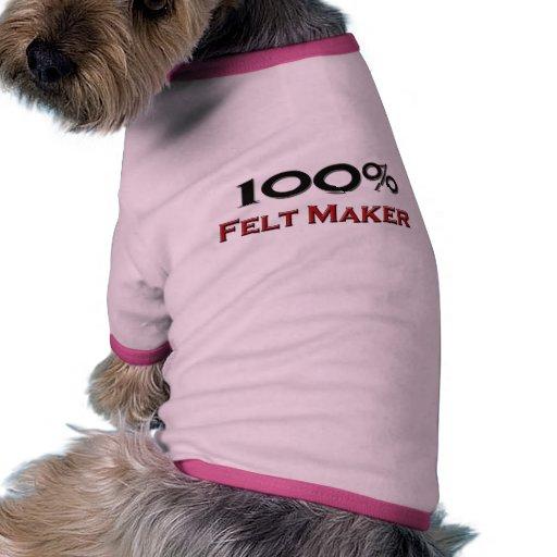 Fabricante del fieltro del 100 por ciento ropa para mascota