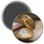 Fabricante del reloj - el tiempo nunca espera imán para frigorifico
