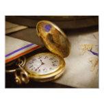 Fabricante del reloj - el tiempo nunca espera invitación 10,8 x 13,9 cm