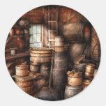 Fabricante del vino - apenas añada el vino pegatina redonda