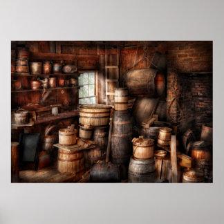 Fabricante del vino - apenas añada el vino póster