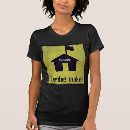 Fabricante del zombi - escuela camisetas
