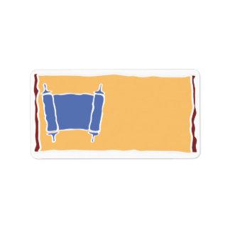 Fabricante fresco de Torah su propia etiqueta Etiqueta De Dirección