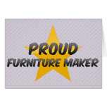 Fabricante orgulloso de los muebles felicitación