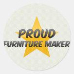 Fabricante orgulloso de los muebles pegatina redonda
