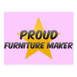 Fabricante orgulloso de los muebles tarjeta postal