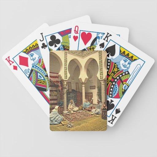 Fabricantes argelinos 1899 de la alfombra cartas de juego