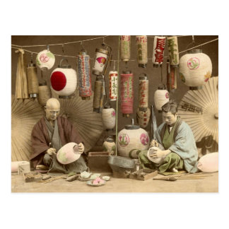 Fabricantes japoneses de la linterna de papel, tarjetas postales
