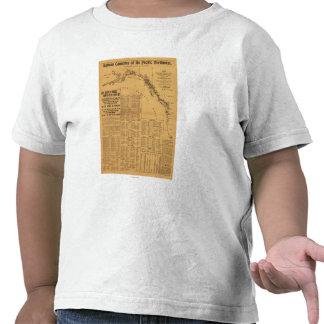 Fábricas de conservas de color salmón del mapa del camisetas