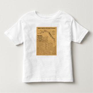 Fábricas de conservas de color salmón del mapa del t shirt