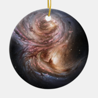 Fábricas de la estrella en el universo distante adorno redondo de cerámica
