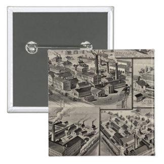 Fábricas del peck, del arrumage y de Wilcox Pin Cuadrada 5 Cm
