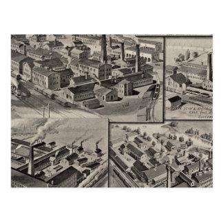 Fábricas del peck, del arrumage y de Wilcox Tarjeta Postal