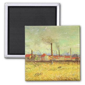Fábricas en Asnieres, Van Gogh, bella arte del Imán Cuadrado
