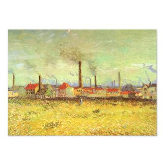 Fábricas en Asnieres, Van Gogh, bella arte del Invitación 12,7 X 17,8 Cm